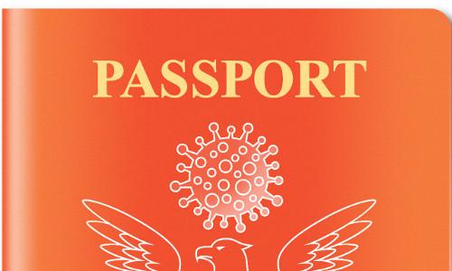 Illustration of a vaccine passport.